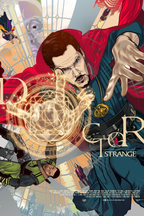 Doctor Strange Poster Tribute to Mike Perkins' Last Days of Magic Cover - Vincent Rhafael Aseo