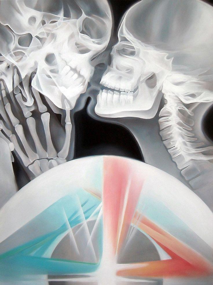 JENNIFER CLARK - LOVE, UNIVERSAL, 2014 Acrylic on Wood Panel,  48˝ × 36˝