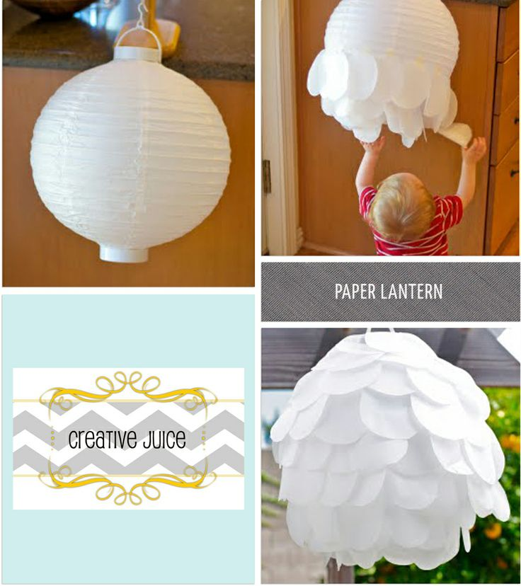 perfect way to dress up plain paper lanterns