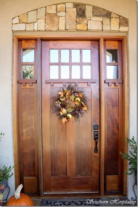 Craftsman Front Door With Sidelights And Transom Style 60 Ideas For 2019 Wooden Front Doors Craftsman House Exterior Doors