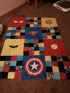 Custom Quilts Super Hero Quilt by bnevaharrington on Etsy, $50.00