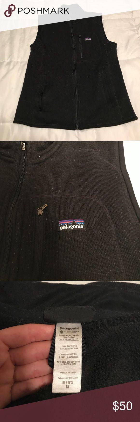 Men's black Patagonia fleece vest Black Patagonia fleece vest. Medium Patagonia Jackets & Coats Vests