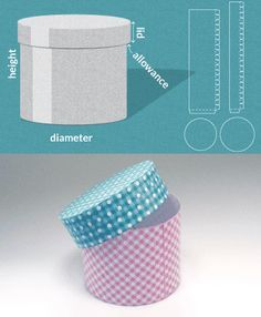 Completely custom sized template for a Round box ( hat box ) Lots of excellent box templates on this site.