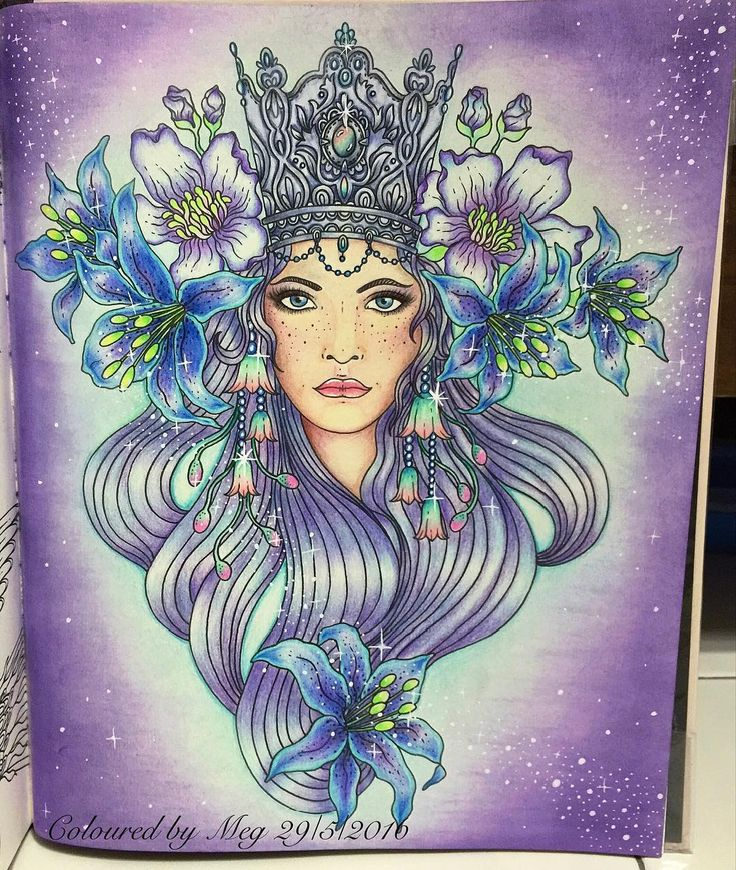 My Angelic lily queen from #Sommarnatt by #hannakarlzon #adultcoloringbook…