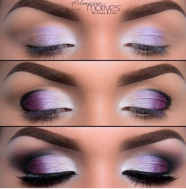 Night Makeup-maybe a darker purple to match my dress for ...