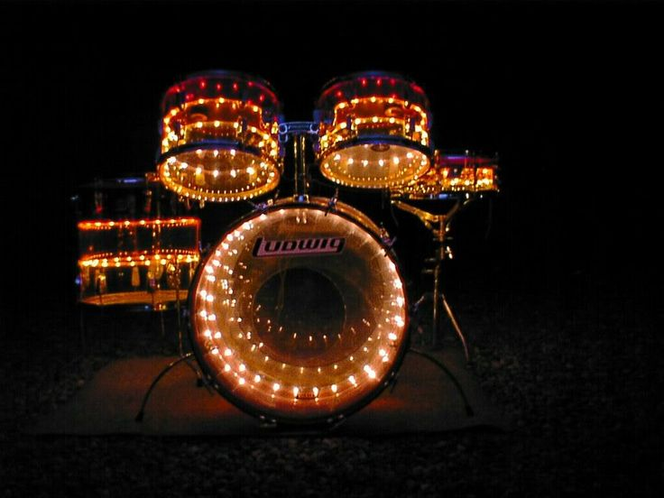 Lighted LUDWIG Drumkit with kick drum, toms, snare.... a Cool Drumset that gives you a Christmas spirit feel on stage at night! #DdO:) http://www.pinterest.com/DianaDeeOsborne/drums-drumming-joy - DRUMS & DRUMMING JOY. With holiday happy lights, it's no surprise that this cool kit became a MOST POPULAR RE-PIN.
