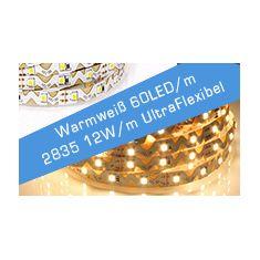 LED Streifen Warmweiß 60 LED/m UltraFlex