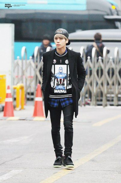 150116 Jonghyun по пути на Music Bank