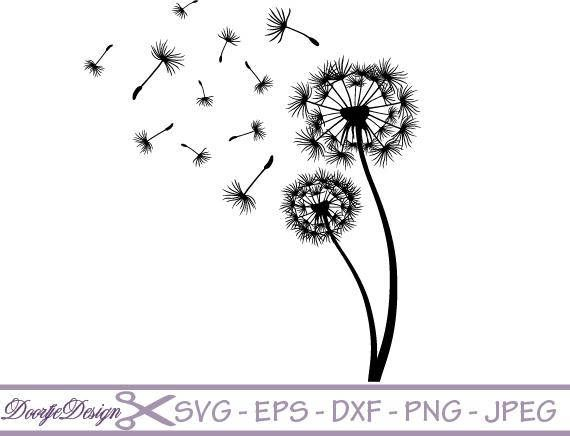 Download The Free Flying Dandelion Love Hearts Vector Eps Ai Pdf Svg Png On Stuffled Com Silhouette Cameo Projects Silhouette Crafts Dandelion