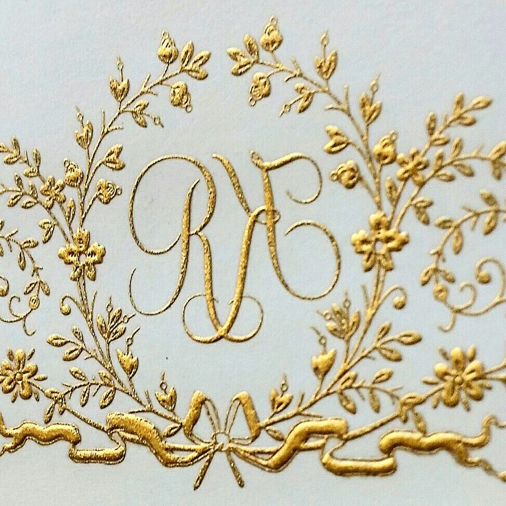 Engraved garland monogram