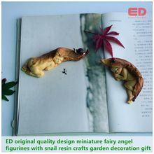 ED original design2pcs/set miniature fairy angel figurines/snail simulation garden decoration gift  Christmas tree decorations