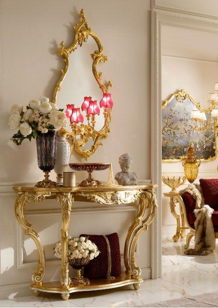 Italian Classic Luxury Handmade Dining Room Console.