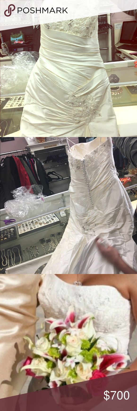 Perfect condition Mermaid style, inside back corset, silk, train with clip anjolique Dresses Wedding