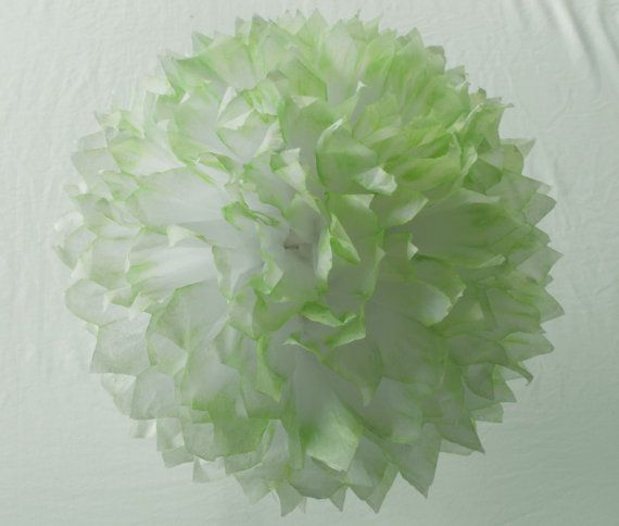 Lime Pom Hand Dyed Pom Lime Wedding Decoration by HandDyedPoms