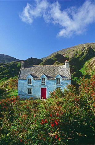 blue house in Ireland