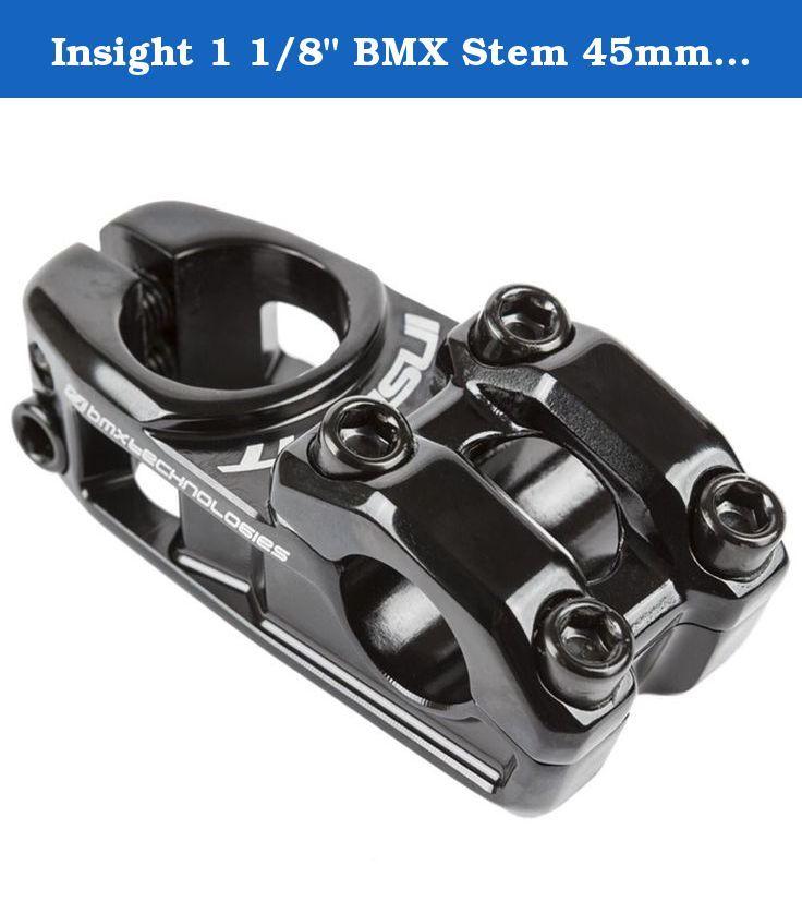 "Insight 1 1/8"" BMX Stem 45mm Black. 1-1/8"" STEM 45MM BLACK."