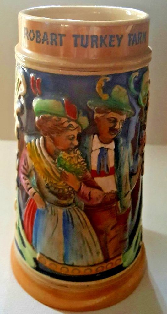 VINTAGE GERMAN BEER STEIN TALL ""