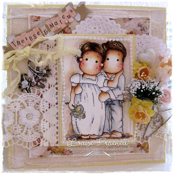 Wedding Card Created By Llc Dt Member Louise Fraenell