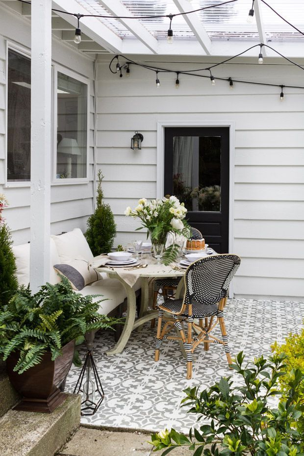 outdoor covered living space with grandin road farmhouse eclectic rh pinterest com
