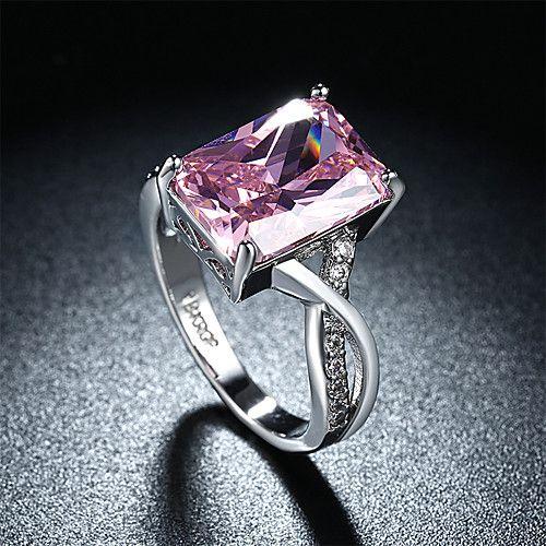 Mulheres Anéis Grossos Maxi anel Rubi Amor Moda Personalizado bijuterias Gema Prata de Lei Zircão Imitações de Diamante Formato de Coração de 2017 por R$19.94