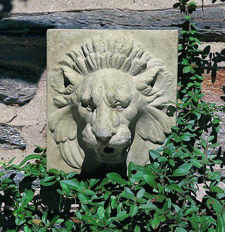 Morris Small Lion Cast Stone Wall Plaque Made By Campania International