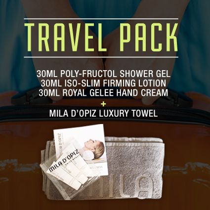 Going away these holidays?  We have the perfect travel companion for you, our Swiss Wellness Travel Pack with Luxury Towel.