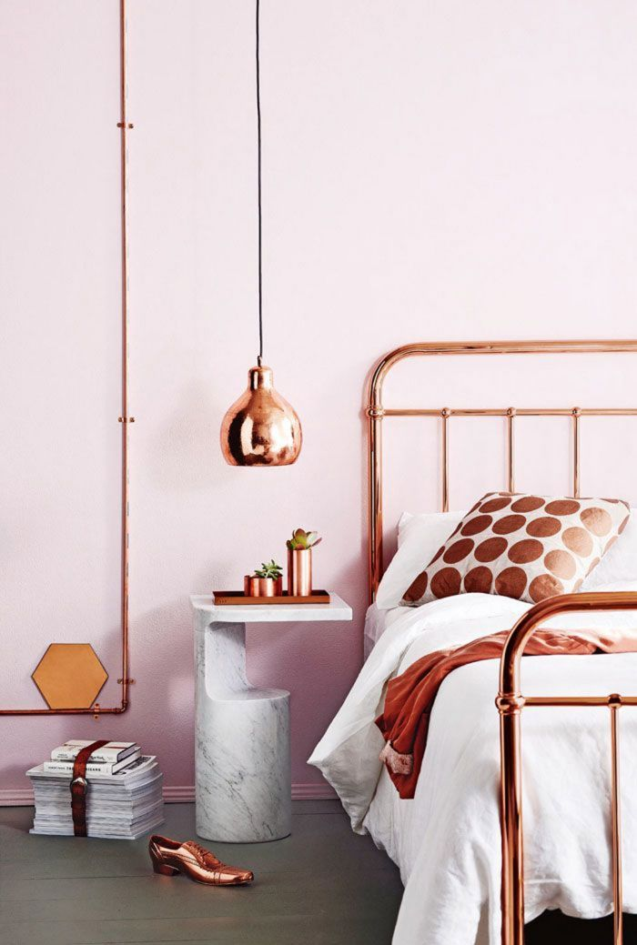 1001 Exemples Inspirants Pour Une Deco Rose Poudre Copper