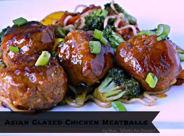 Asian Glazed Chicken Meatballs Nom Nom Nom Pinterest Cook In Reunions And Glaze Recipe