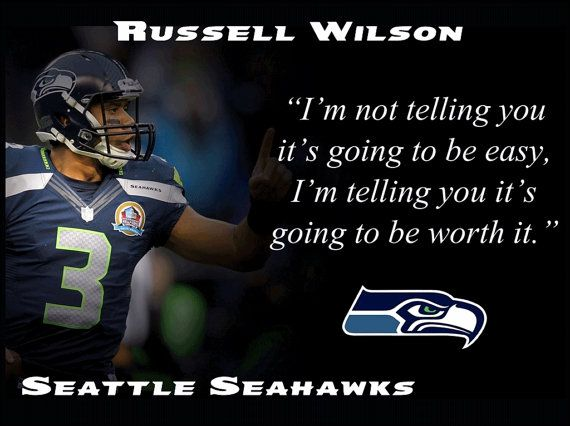 Russell Wilson Seattle Seahawks Photo Quote by ArleyArtEmporium, $15.99