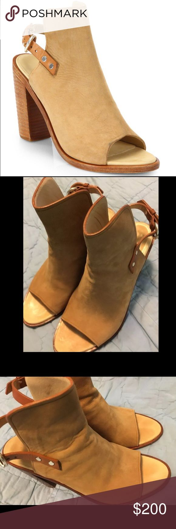 Rag and Bone Wyatt Suede Slingback Sandals Rag and Bone Wyatt Suede slingback sandals in Camel. Size 39.5 rag & bone Shoes Sandals