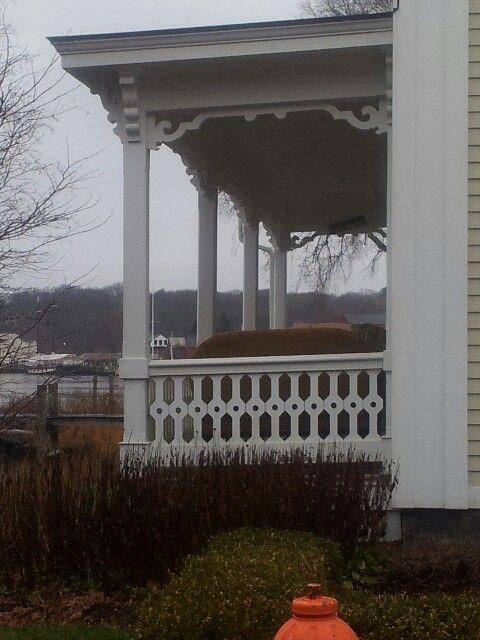 Mooie zijkant veranda