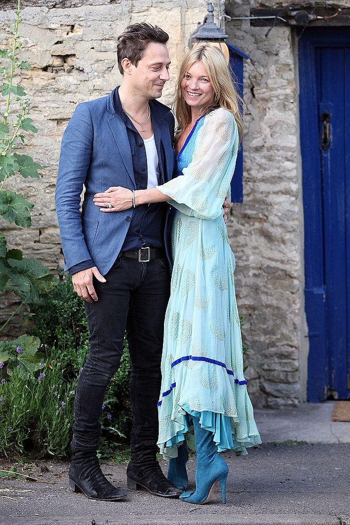 Kate Moss Wedding Rehearsal Dinner, Vintage Dress, Roger Vivier boots