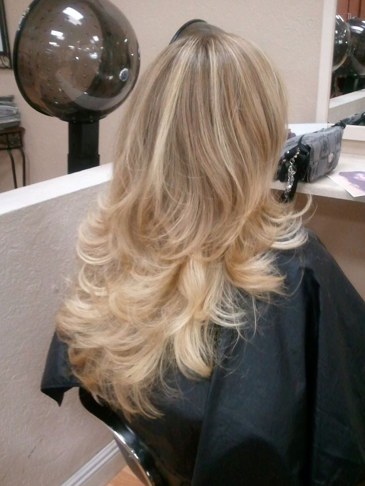 Long Layers Blown Out With A Round Brush Hair By Jen