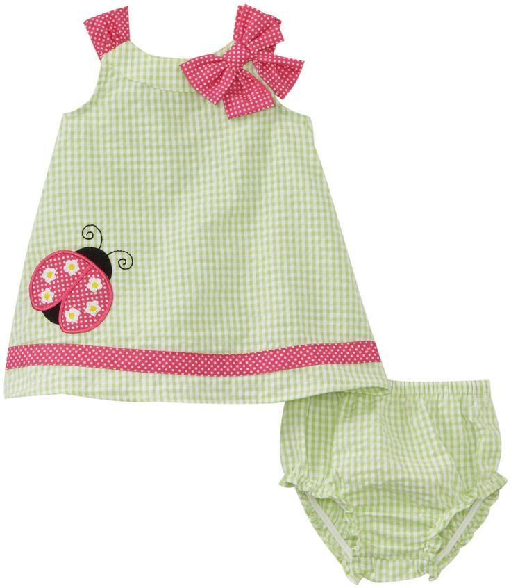 Newborn Baby Girl Dresses | ... Baby-Girls Newborn Seersucker Ladybug Dress | Baby Clothes for Girls