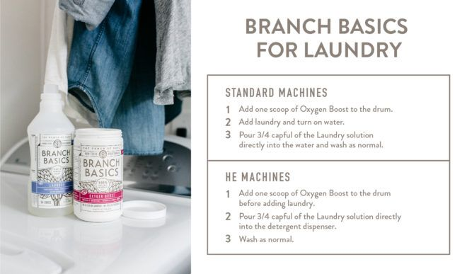 Laundry Instructions Branch Basics Branch Basics Cleaning Treating Stains