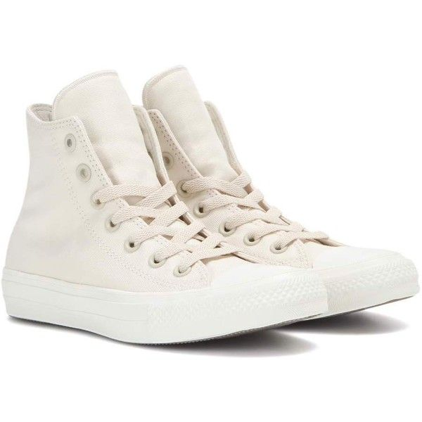 Converse Chuck Taylor All Star II High Top Sneakers ($62) ❤ liked on Polyvore featuring shoes, sneakers, neutrals, converse footwear, high top trainers, converse sneakers, high top sneakers and hi tops