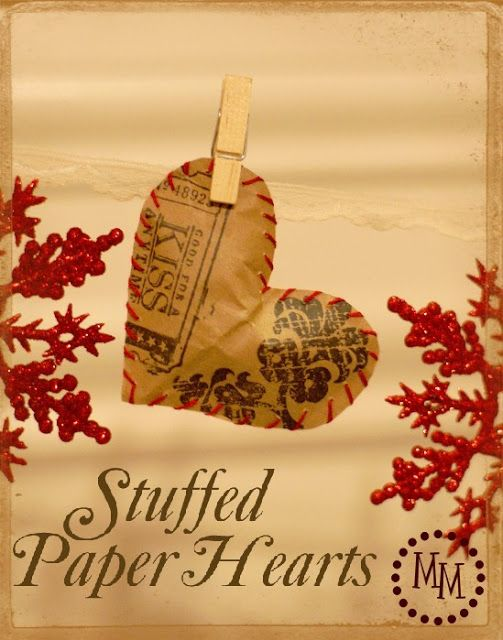 Stuffed Paper Hearts - The Scrap Shoppe