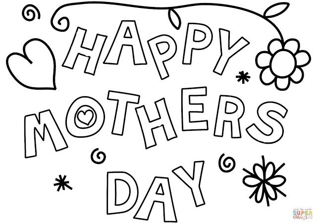 Happy Mothers Day 2019 Coloring Pages For Kids To Color Mothers