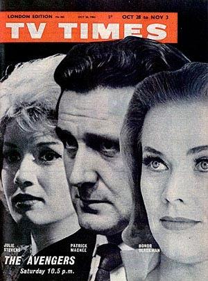Julie Stevens, Patrick Macnee, Honor Blackman by softcoverbooks, via Flickr