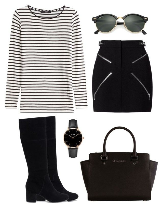 """""""Untitled #392"""" by anahideleon on Polyvore featuring Alexander Wang, Steffen Schraut, Sole Society, Michael Kors, CLUSE and Ray-Ban"""