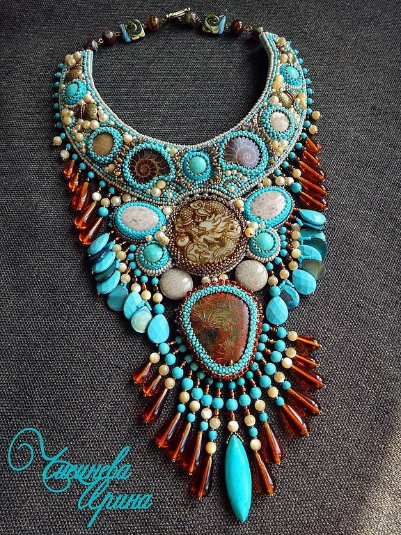 Beautiful jewelry with carved stones Click on link to see more photos - http://beadsmagic.com/?p=8746
