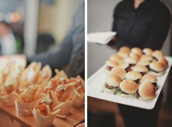 Sliders and cones of fish and chips