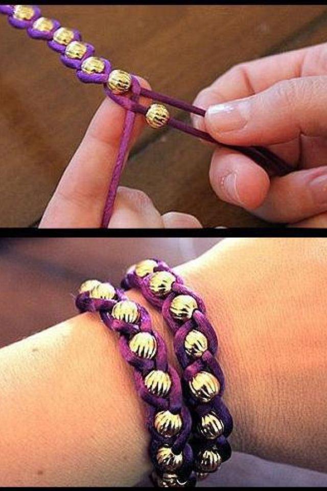 super easy beaded/ braided bracelet