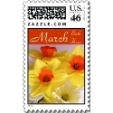Daffodil Postage Stamps - March Birth Flower Gifts! - #daffodils #daffodilgifts #marchbirthday #postagestamps