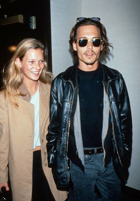 Kate Moss & Johnny Depp. What a hot coupleJohnny Depp, Hair Colors, Dreams Team, Katemoss, 90S, Leather Jackets, Johnnydepp, People, Kate Moss