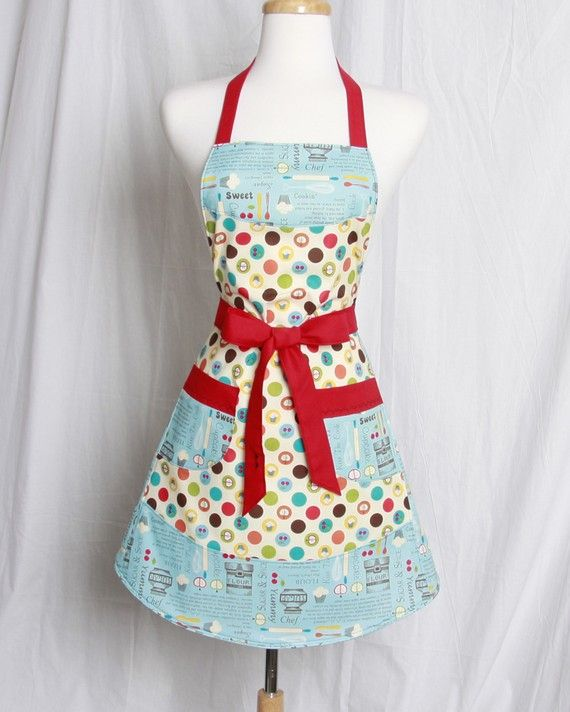 Dear ApronQueen On Etsy: This Vintage Inspired Retro Kitchen Apron Is Right  Up My Alley! Every Once In Awhile I See An . Part 46