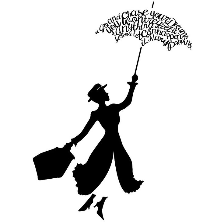 """Add this decal to a nursery or child's room, for a touch of daily inspiration. """"Go and chase your dreams, you won't regret it. Anything can happen if you let it."""" - Mary Poppins                                                                                                                                                                                 More"""