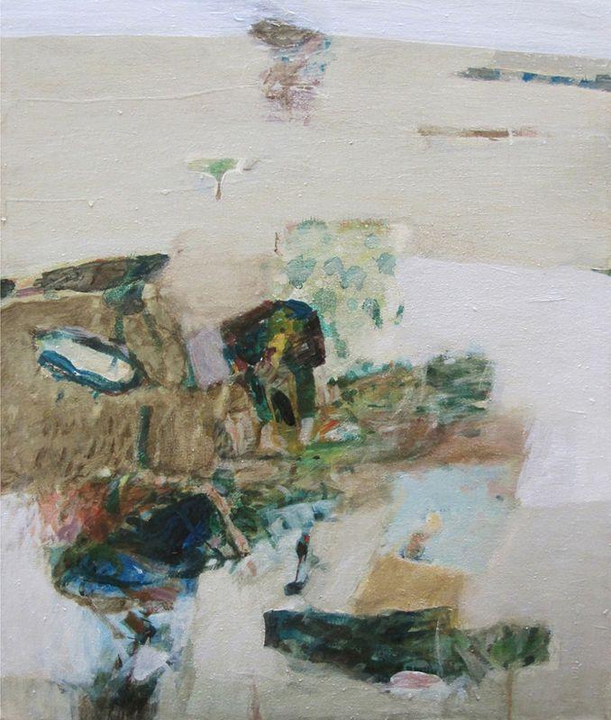 Level, 2011, acrylic on canvas, 57x51cm.