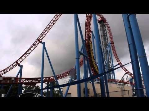 Superman Escape Rollercoaster Ride @ Warner Bros. Movie World on the Gold Coast, Australia - YouTube