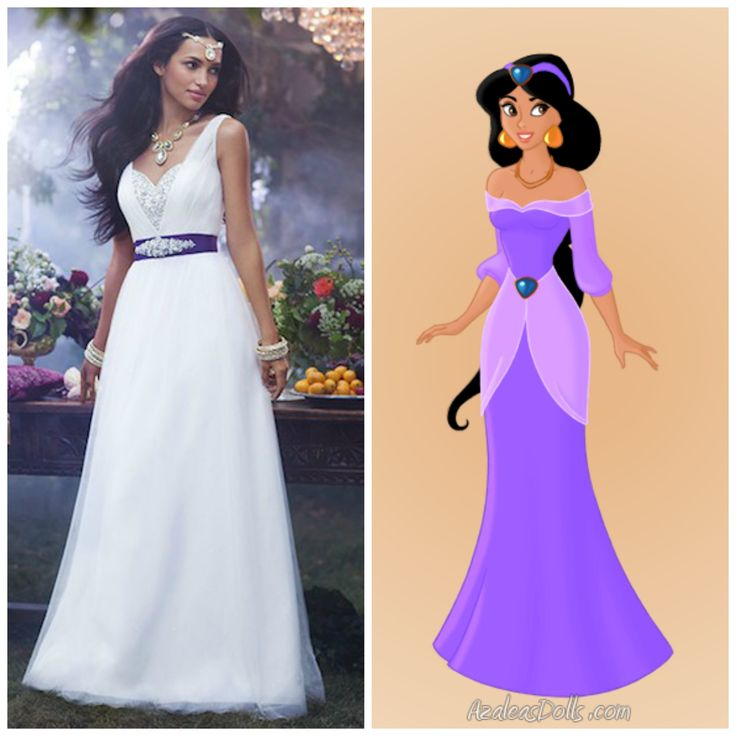 Disney Princess Jasmine Wedding Dress